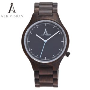 ebony wooden watch mens