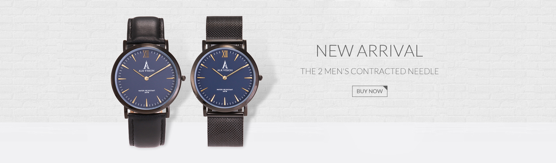 black mens casual watch