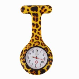 nurse watch silicone tiger leopard